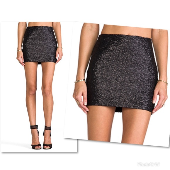 Miss Me Dresses & Skirts - MM Couture by Miss Me Sequin Mini Skirt in Black